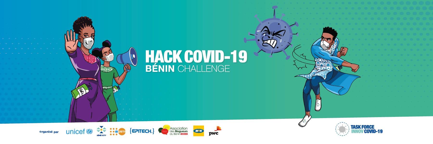 Banniere challenge Hack Covid 19