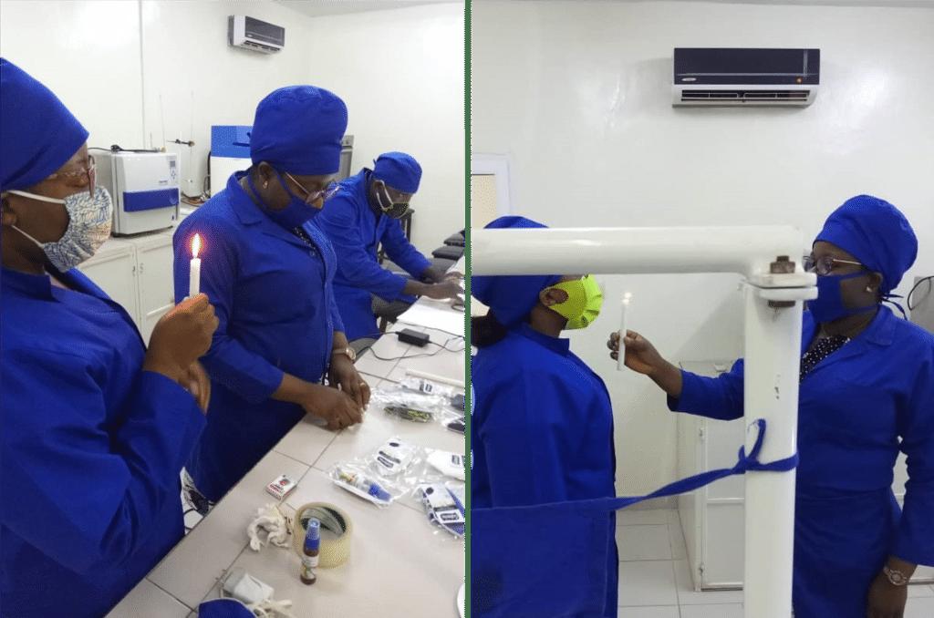 Test scientifique des masques pour la riposte contre le COVID19 par le laboratoire IRGIB Africa